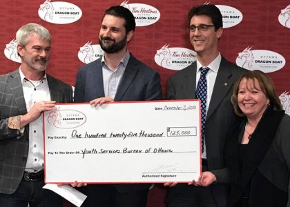$125,000 Donated to Youth Services Bureau of Ottawa