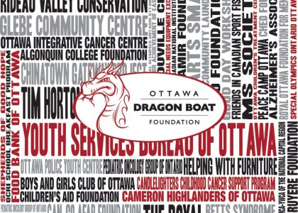 ANNOUNCING THE OTTAWA DRAGON BOAT FOUNDATION'S 2018 CHARITIES