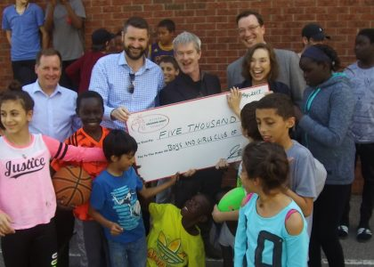 ODBF DONATES $25,000 TO THE BOYS AND GIRLS CLUB OF OTTAWA