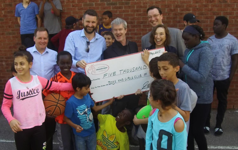 $5000 DONATED TO BOYS & GIRLS CLUB OF OTTAWA