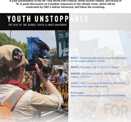 YOUTH UNSTOPPABLE: THE RISE OF THE GLOBAL YOUTH CLIMATE MOVEMENT – 30TH ONE WORLD FILM FESTIVAL SCREENING