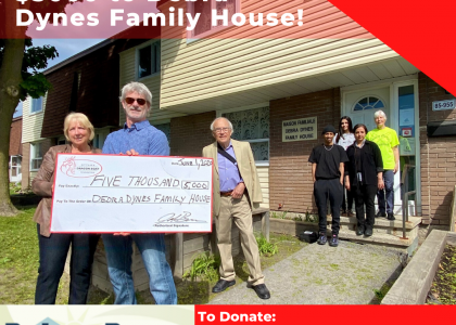 ODBF ANNOUNCES A $5,000 DONATION TO DEBRA DYNES FAMILY HOUSE