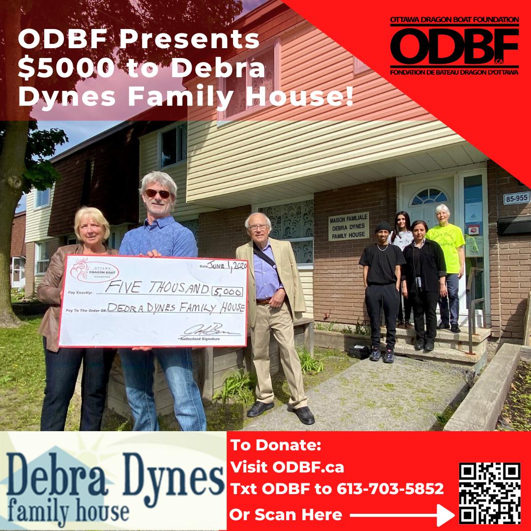 ODBF Presnts $5,000 to Debra Dynes Family House