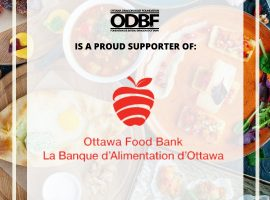 ODBF PRESENTS OTTAWA FOOD BANK WITH A $5,000 DONATION